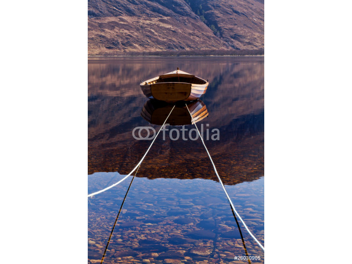 Loch Maree Boat Reflections 64238