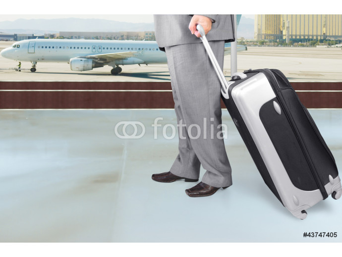 Traveling Businessman  in the Airport 64238