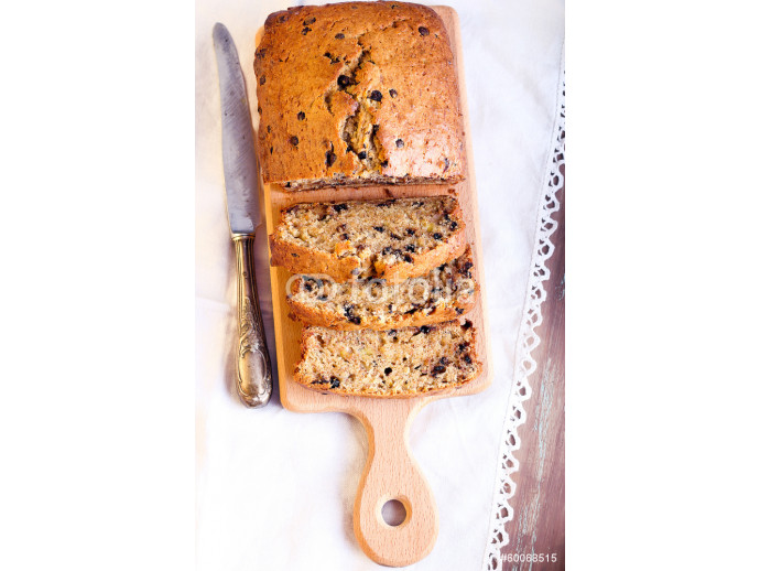 Banana and chocolate chips bread 64238