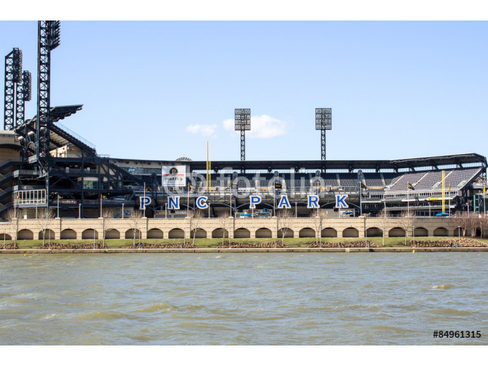 PNC Park Front - View of Pittsburghs PNC Park Baseball Stadium that Rests on the Edge of the Allegheny River 64238