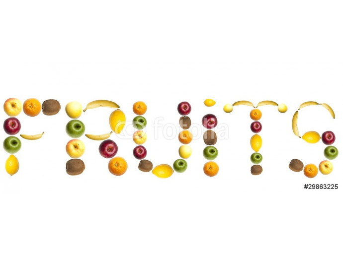 Vliestapete Fruits word made of fruits 64238