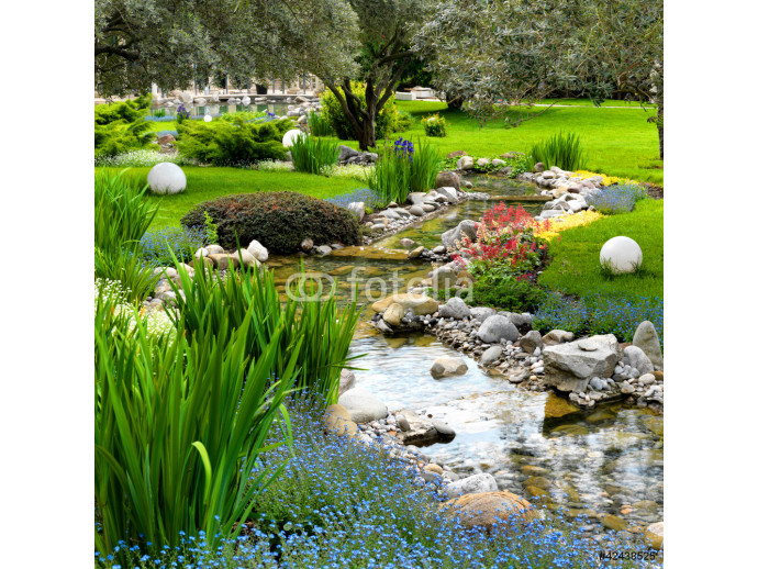 garden with pond in asian style 64238
