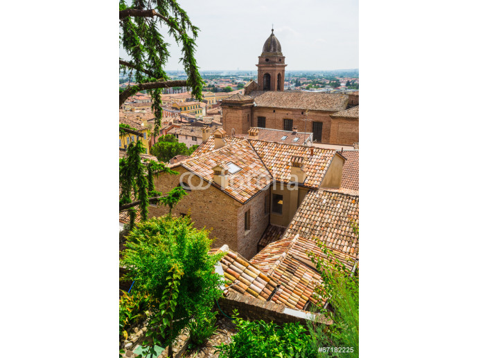 Fototapeta andscape with roofs of houses in small tuscan town in province 64238