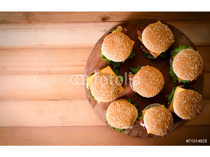 Group of beef burgers 64238
