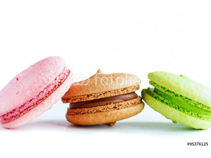 Three colorful macaroons 64238