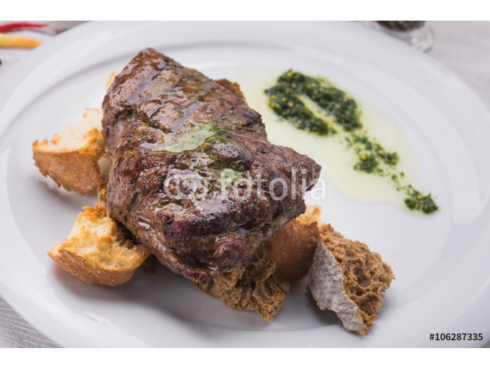 beef steak on white table 64238