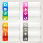 Rainbow - Ecological and Recycling icons / Navigation template 64238