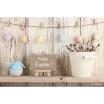 Easter decoration with holiday greeting 64238