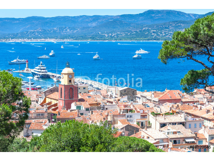 Panoramic view of the bay of Saint-Tropez, France 64238