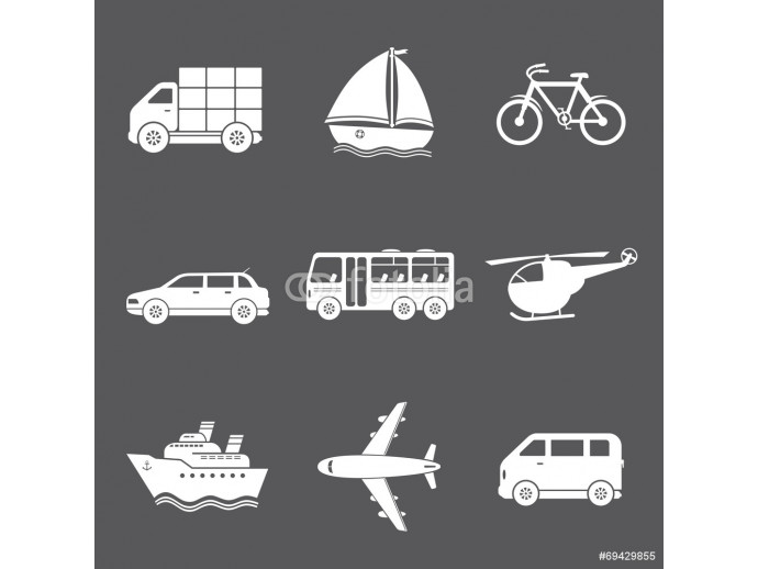 Vector transport icons 64238