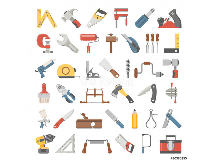 Flat Icons - Hand Tools 64238