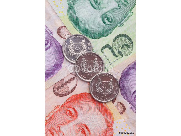Singapore banknotes and coins 64238