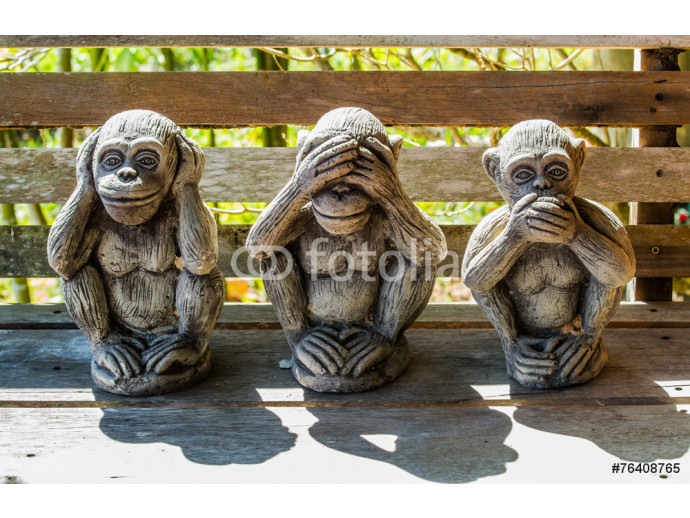 Fototapeta Three monkeys 64238