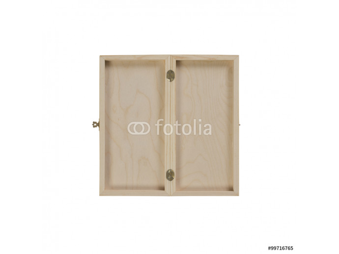 open wooden case on a white background 64238