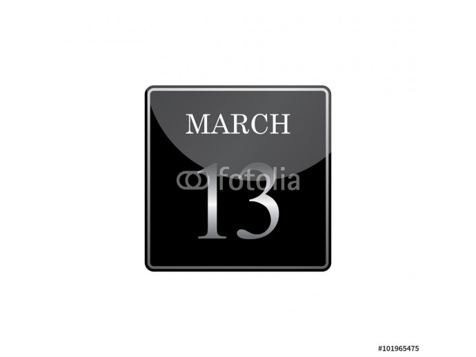 13 march calendar silver and glossy 64238