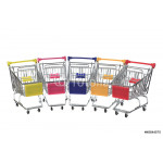 Metal shopping cart on white background 64238
