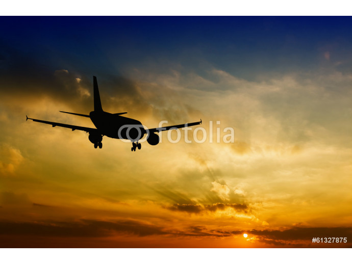 Beautiful view of silhouette of airplane 64238