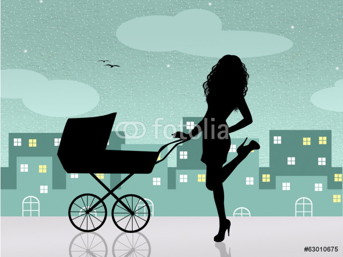 mother with pram 64238