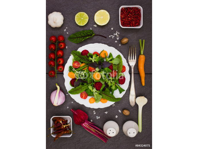 Mixed salad with salad ingredients 64238
