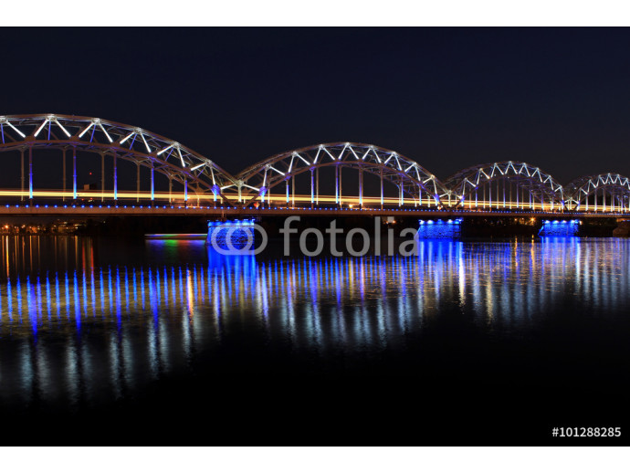 Train bridge over the Daugava river in Riga, Latvia. 64238