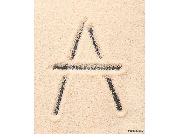 A letter written on sand 64238