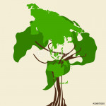 World Map Tree 64238