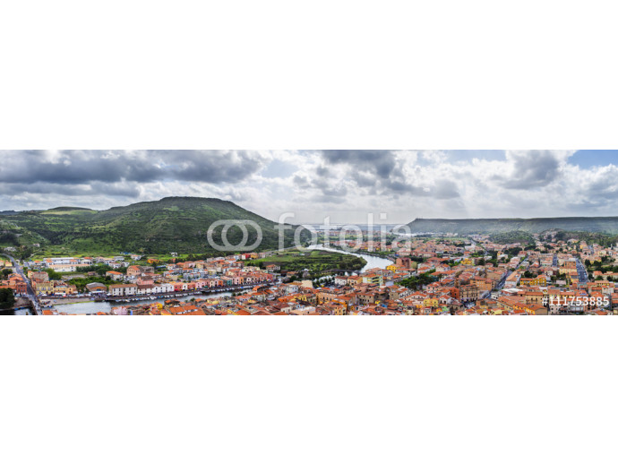 panoramic view of Bosa from the castle of Malaspina, Sardinia, Italy 64238