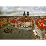 View of Prague from a tower on Old Town Square 64238