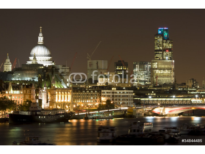 London Skyline at Night and River Thames 64238