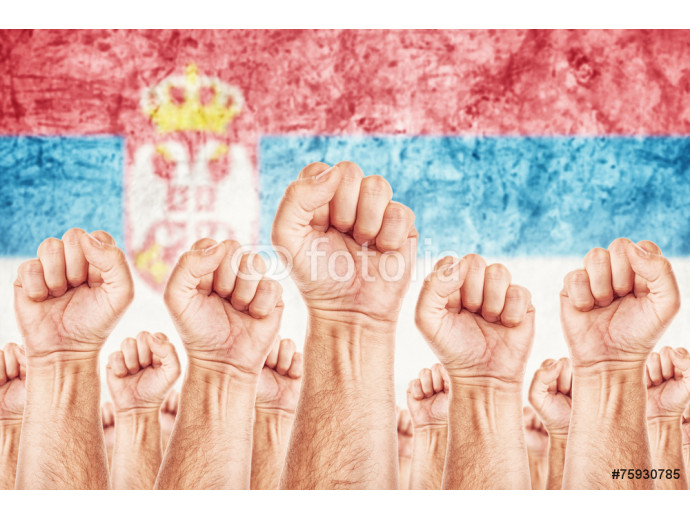 Serbia Labour movement, workers union strike 64238