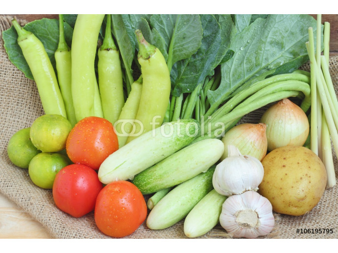 Healthy food background of vegetables 64238