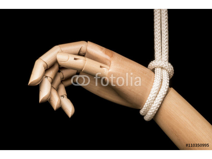 White hand attached on rope 64238