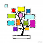 Art tree with frames, place for your text or photo 64238
