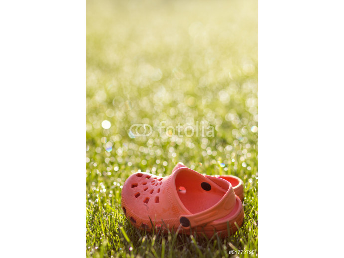 Rubber sandals in the grass 64238