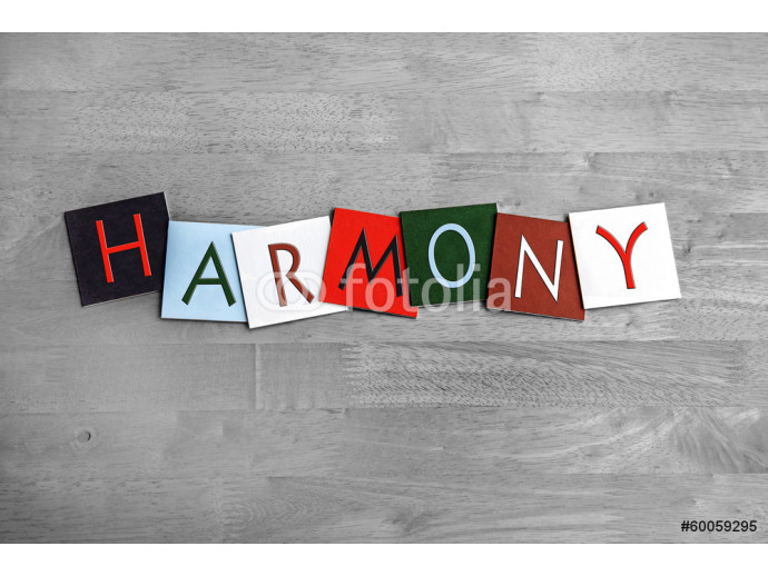 Harmony, sign series for music, singing, choir and bands 64238