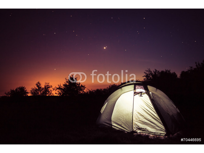Luminescence in a tent under stars 64238