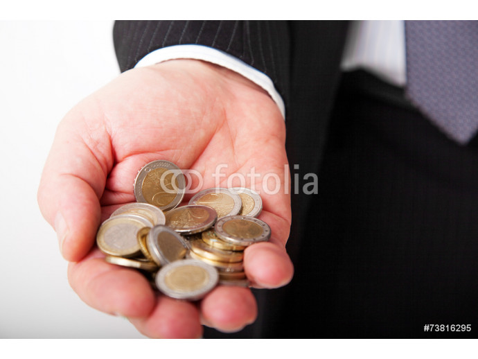 Hand with money coins 64238