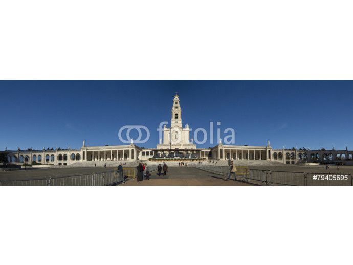 View of the famous holy plaza of Fatima, Portugal. 64238