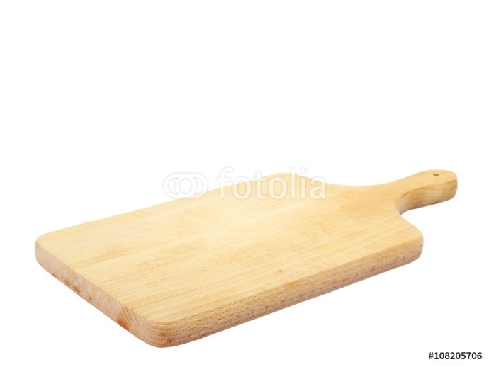 Fotomurale Wooden chopping board isolated on white background 64238
