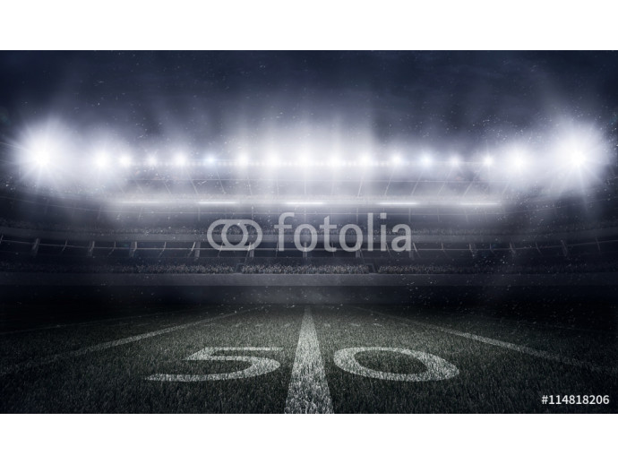 Vliestapete American football stadium in lights and flashes 64238