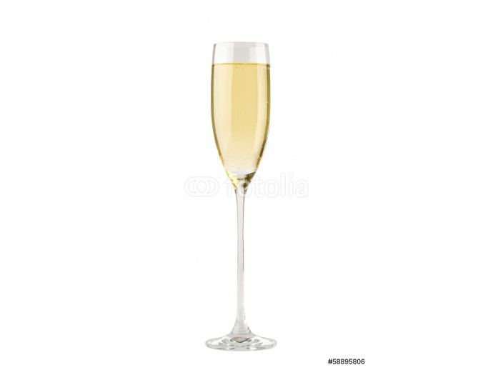 Champagne in a glass. Isolated on white background 64238