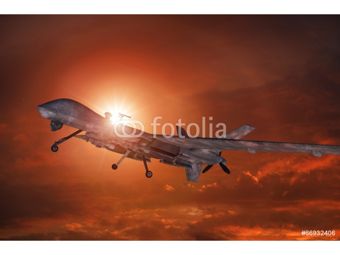 Military Drone Takeoff 64238