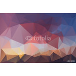Abstract polygonal background brown red blue 64238