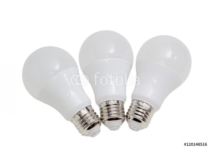 Three light emitting diode lamp on a light background 64238