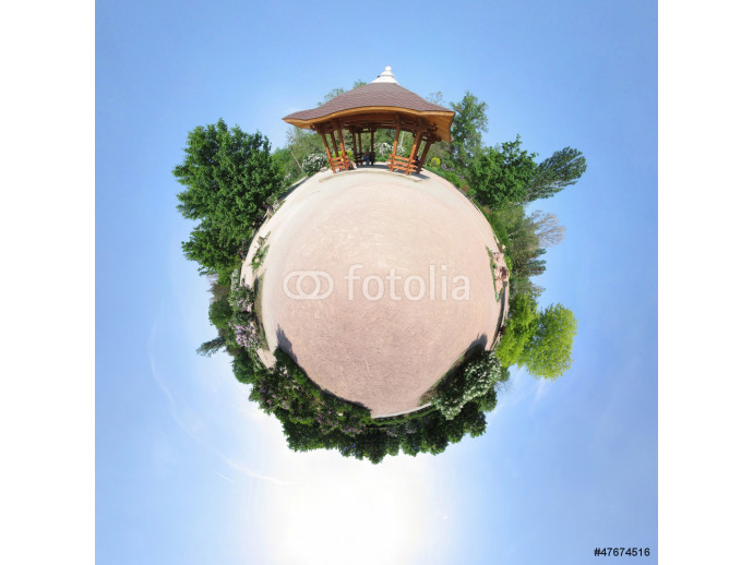 Vliestapete Rotunda in the Chinese/Japan style, abstract view (little planet 64238