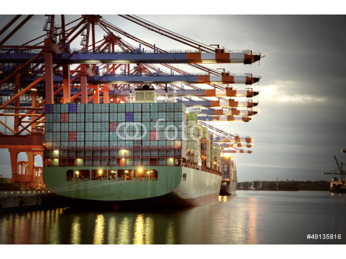 Fotomural decorativo Container Terminal 64238