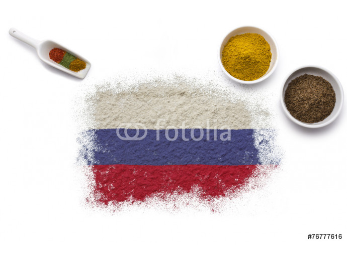 Spices forming the flag of Russia.(series) 64238