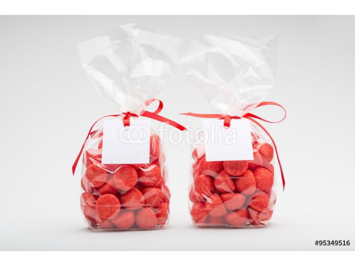 Fototapeta Two elegant plastic bags of strawberry for gift 64238