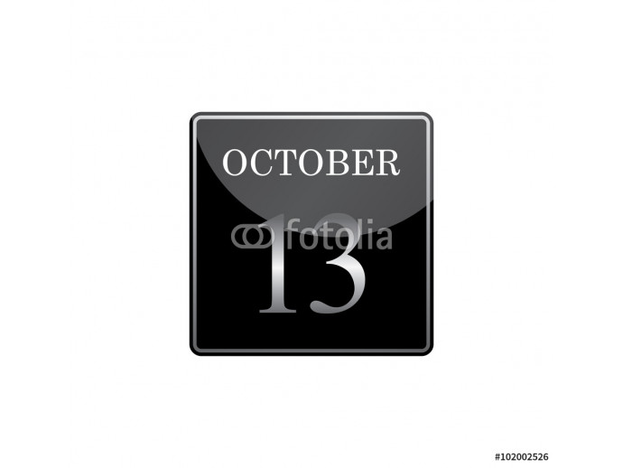 13 october calendar silver and glossy 64238