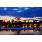 View on Prague with gothic Castle after Sunset 64238